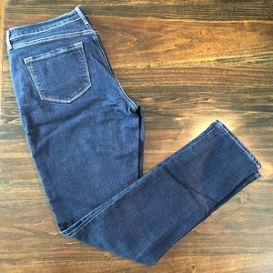 Old Navy Curvy Mid-Rise Jeans Dark Wash 8 Reg